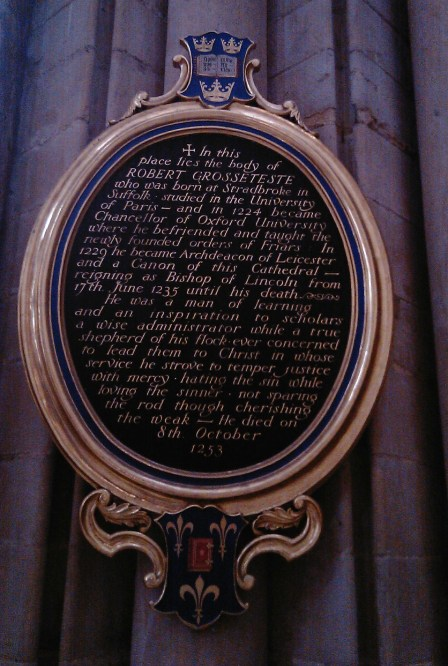 Grosseteste memorial Lincoln Cathedral
